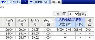 9/16〜9/21 ドル円トラリピ
